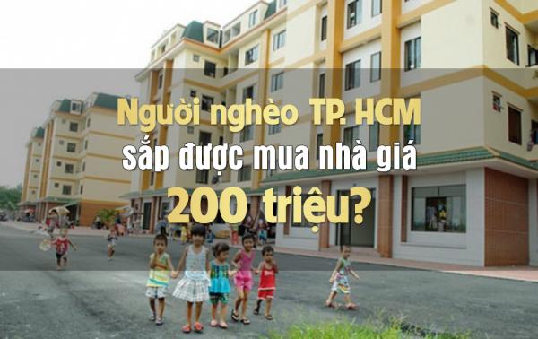Người nghèo TP.HCM sắp được mua nhà giá 200 triệu