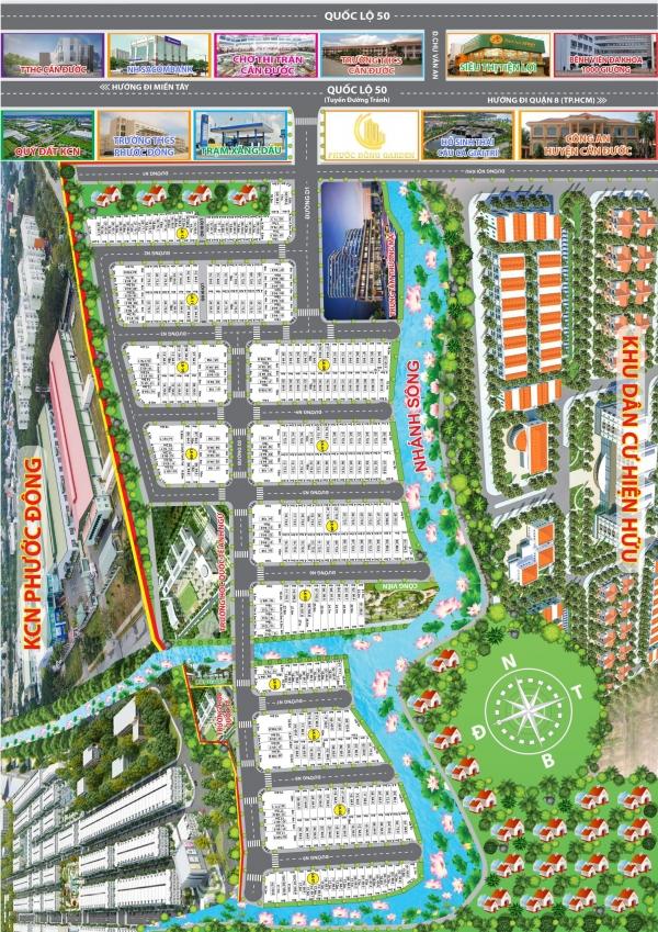đất nền view đẹp dự án Phước Đông Garden giá chủ đầu tư